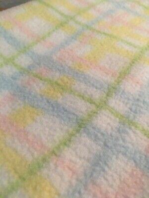 Martha Stewart Everyday Baby Blanket Square Plaid Striped Pastel (b5)