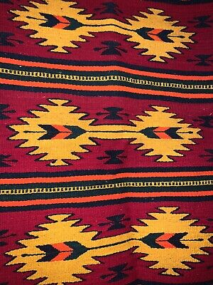 "Zapotec Indian rug, 100% Wool, Filomeno Gonzalez Perez, Hand Made/Mexico 39""x23"""