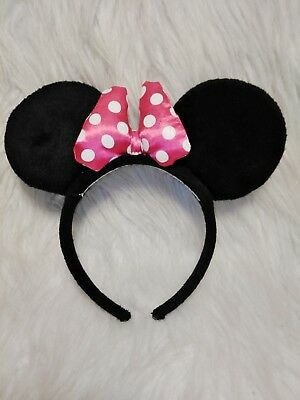 Disney Minnie Mouse The Great Pretendears Pink Bow Headband Mouse Ears Hanover