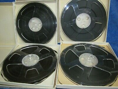 "4 Reels Concertape Recording Tape 1800 Ft 7"" Polyester to open reel"