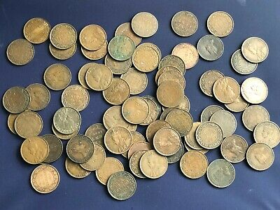 Old Canada Large Cents Lot *76 Coins 1902 - 1920