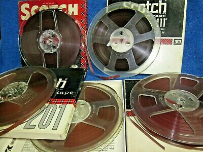 "5  Reels Scotch 150 Recording Tape 7"" reel to open reel"