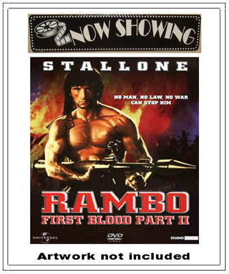 ✅ Rambo First Blood Pt. 2 Dvd Only - Sylvester Stallone - 100% Authentic ⭐⭐⭐⭐⭐