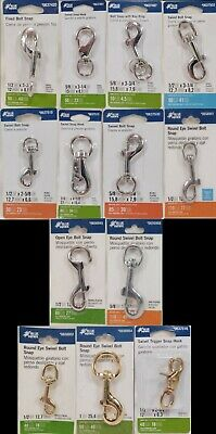 Blue Hawk Various Snap Hooks - 13 Choices Size, Type, and Material
