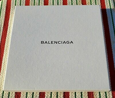 "NEW Balenciaga (Empty) White Gift/Storage Box - 9.75"" x 9.75"" x 1"""