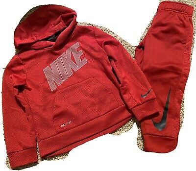 Toddler Boys Nike Maroon Track Suit Jogging Outfit Size 3T