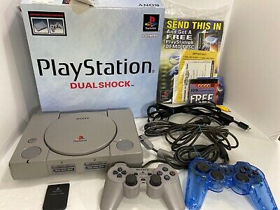 Sony Playstation 1 PS1 Console System Gray SCPH 9001 with Box & manual