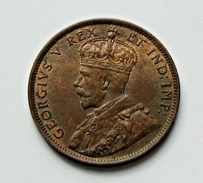 1911 CANADA George V Coin - Large Cent (1¢) - MS+ UNC - red/brown toned-lustre