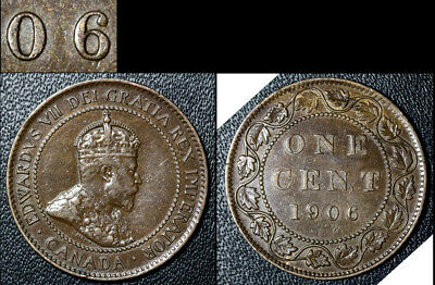 FEBRUARY SALE: Large Cent - 1906 Repunched 6/6 Hi/Lo Very RARE - EF (bg125)