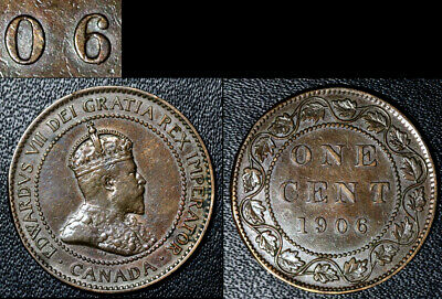 FEBRUARY SALE: Large Cent - 1906 Repunched 6/6 Hi/Lo Very RARE - EF (bg126)