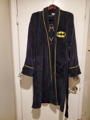 New Official ~ JOKER HOODED BATH ROBE ~ Fleece Inside Mens Batman DC Comics LONG