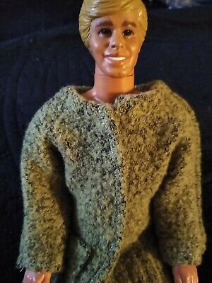 Hand made Barbie Ken clothes mod sweater OOAK, made in USA, New St Patrick's day