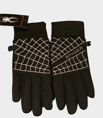 Women's Everyday Black Gloves SPYDER Logo  Size S/M New with Tags