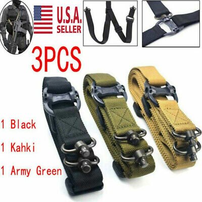 "3pcs Retro Tactical Quick Detach QD 1 or 2 Point Multi Mission 1.2"" Sling USA"