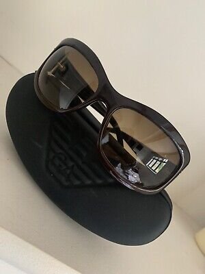 Armani Sunglasses Brown In Case