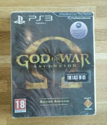 god of war ascension edition spéciale steelbook ps3 ps 3 playstation 3 neuf fr