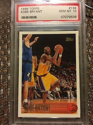 🔥🐍 1996 Topps Kobe Bryant Rookie PSA 10 Gem Mint RC #138 Lakers Black MAMBA 🏀