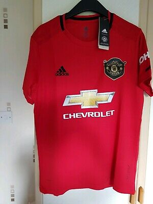 Man Utd Adidas Home Shirt Size Large 2019/20 Bnwt