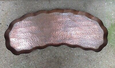 Heavy Arts And Crafts Style Copper Drinks Tray By Loveridge And Co