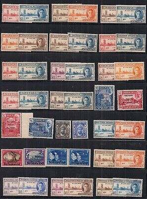 Commonwealth-Super Selection Of 38 Gvi Victory Sets.mainly Unmounted Mint.