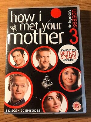 How I Met Your Mother Series 3 - Complete (DVD, 2010, 3-Disc Set) Britney Spears