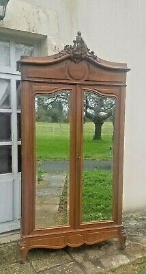 Antique French Armoire, Louis XV Rococo Style, Chateau Double Wardrobe