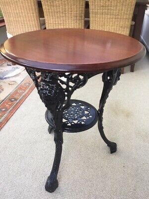 Pub Round Wooden Top/metal Base Table