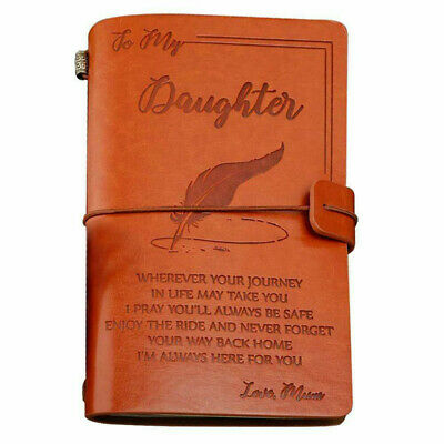 Mother to Daughter Gifts for Birthday,Graduation, Leather Cover Journal Notebook
