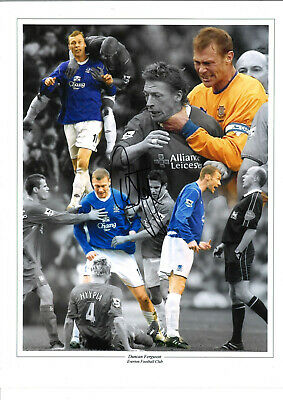 Duncan Ferguson Everton 16 x 12 inch hand signed authentic football photo SS174A