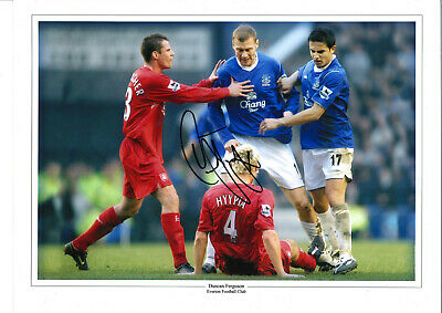 Duncan Ferguson Everton 16 x 12 inch hand signed authentic football photo SS174B