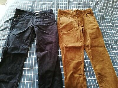 Next Aged 11 Years Boys 2 Pairs Skinny fit Corduroy Trousers