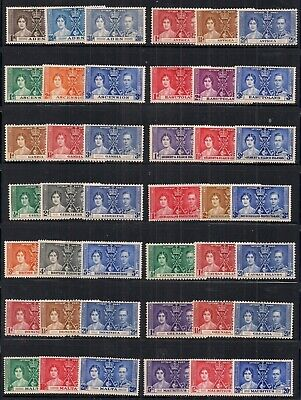 Commonwealth- 28 Gvi Coronation Sets.mainly Unmounted Mint.very Nice Lot.