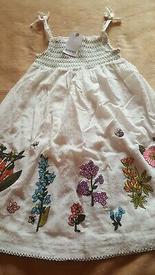 NEXT Stunning Girls Embroidered Strappy Dress Age 5-6 years BNWT RRP £16