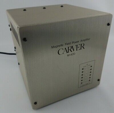 Vintage CARVER M-400 Magnetic Field Power Amplifier Amp CUBE Stereo Or Mono