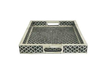 Bone inlay sering Tray indian Handmade fish scale pattern