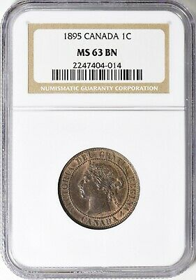 1895 Canada Large Cent NGC MS-63 BN 1c