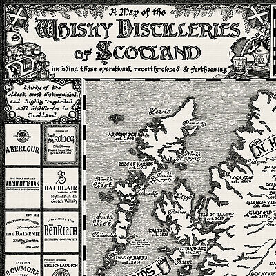 The Whisky Map of Scotland - Fine Art Prints by Manuscript Maps