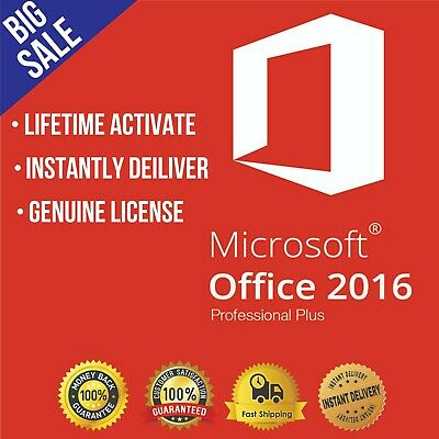 Office 2016 Professional Plus Official Download & Key 32/64 Instantly Delivery