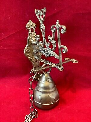 VIntage Brass Bell Door Knocker Monastery Church School Bell C8