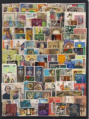 Malta-Super Selection Of 100 Qeii Fine Used Stamps.looks All Different.