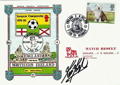 KEVIN KEEGAN **SIGNED ENGLAND v NORTHERN IRELAND : FOOTBALL POSTAL COVER  (1979)