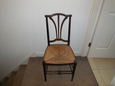 Arts and crafts style rush seat chair