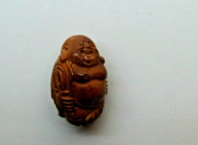 Antique Chinese carved Heidao nut bead, Qing Dynasty, Hotei