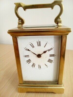 Antique/Vintage Brass Carriage Clock With Key
