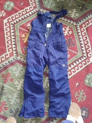 Lands End Squall Snowpants 10 Boys Girls Navy Overall Bibs
