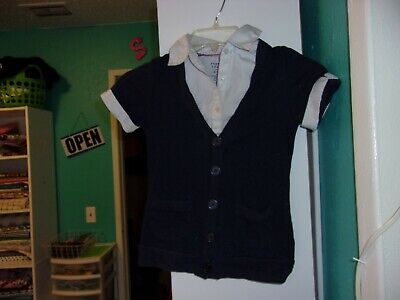 French Toast Sweater top Girls Size 7-8