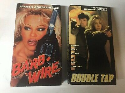 Double Tap VHS Barb Wire Tommy Lee Ex Wives Action Lot Rare HTF