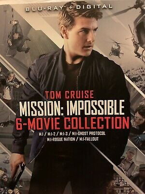 Mission Impossible Tom Cruise 6 Movie Collection Blu Ray W/ Slipcover + Digital