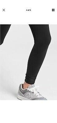 NEW Athleta Girl S/7 Black Roll with the Scrunches Tights Pants Small