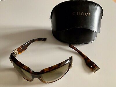 Gucci Large Tortoise Shell Buckle Sunglasses